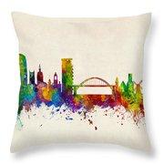 Sunderland England Skyline Throw Pillow