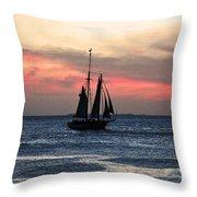 Sunset Key West  Throw Pillow