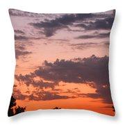 Sunset Moreno Valley Ca Throw Pillow