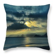 Sunshine At Puerto Cabello Throw Pillow