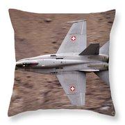 Superhornet Throw Pillow