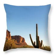 Superstition  Mountains Arizona Throw Pillow