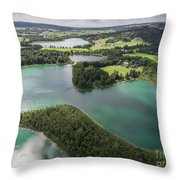 Suwalki Landscape Park, Poland. Summer Time. View From Above. Throw Pillow