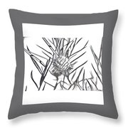 Swan Plant Throw Pillow