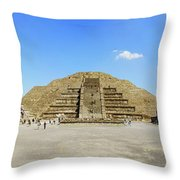 The Famous Pyramid Of The Moon Throw Pillow