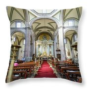 The Historical Mexico City Metropolitan Cathedral Throw Pillow