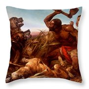 The Hunted Slaves Throw Pillow