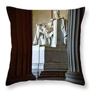 The Lincoln Memorial Throw Pillow