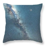 The Milky Way And Mars Throw Pillow