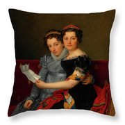 The Sisters Zenaide And Charlotte Bonaparte Throw Pillow