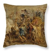 The Triumph Of Henry Iv Throw Pillow