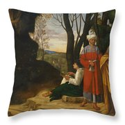 Three Philosophers Throw Pillow