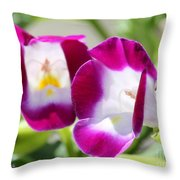 Torenia Named Kauai Magenta Throw Pillow