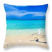 Tropical Beach Malcapuya Throw Pillow by MotHaiBaPhoto Prints