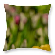 Tulips At Ottawa Tulips Festival Throw Pillow