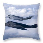 Two F-117 Nighthawk Stealth Fighters Throw Pillow by HIGH-G Productions