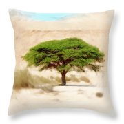 Umbrella Thorn Acacia Acacia Tortilis, Negev Israel Throw Pillow