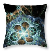Novae I Throw Pillow by Sandra Hoefer