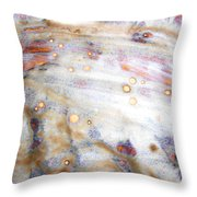 4. V2 Dirty Brown And White Glaze Painting Throw Pillow