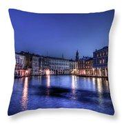 Venice By Night Throw Pillow