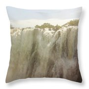 Victoria Falls In Zimbabwe Throw Pillow