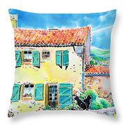 View Of Luberon Throw Pillow