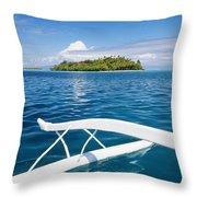 View Of Tahiti Throw Pillow
