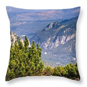 View Of Tatra Mountains From Hiking Trail. Poland. Europe. Throw Pillow