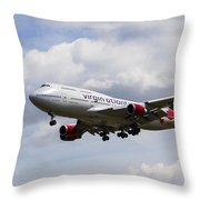 Virgin Atlantic Boeing 747 Throw Pillow