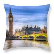 Westminster Bridge And Big Ben Throw Pillow