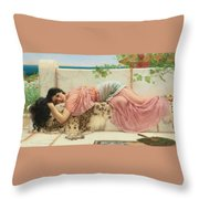 When The Heart Is Young Throw Pillow