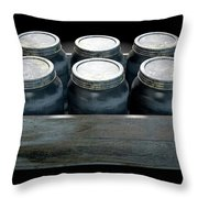 Whiskey Jars In A Crate Throw Pillow