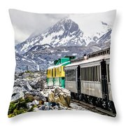 White Pass Mountains In British Columbia Throw Pillow