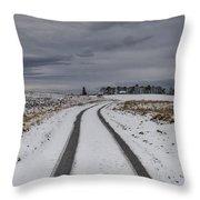 Winter Wonderland In Central Scotland Throw Pillow