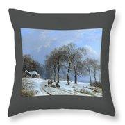 Winterlandschap Throw Pillow