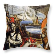 World War I: French Poster Throw Pillow by Granger