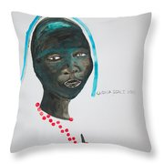 Dinka Bride - South Sudan Throw Pillow