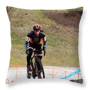 Fearless Femme Racing Throw Pillow