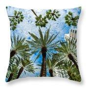 Miami Beach Throw Pillow