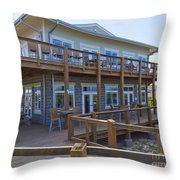 Sebastian Inlet State Park In Florida Throw Pillow