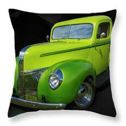40s Ford Throw Pillow