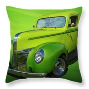 40s Ford Pickup Throw Pillow