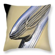 40s Hudson Chrome Throw Pillow