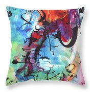 Abstract Expressionsim Art Throw Pillow