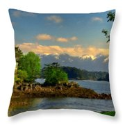 B Y Landscape Throw Pillow