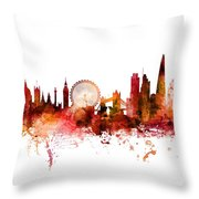 London England Skyline Throw Pillow