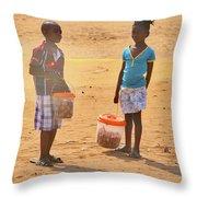 Mozambique Throw Pillow