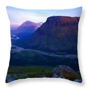 P C Landscape Throw Pillow