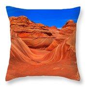 Bandon Beach Golden Glow Throw Pillow