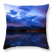 Acrylic Landscape Painting Throw Pillow
